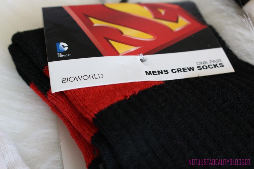 Superman Socks for my husband.
