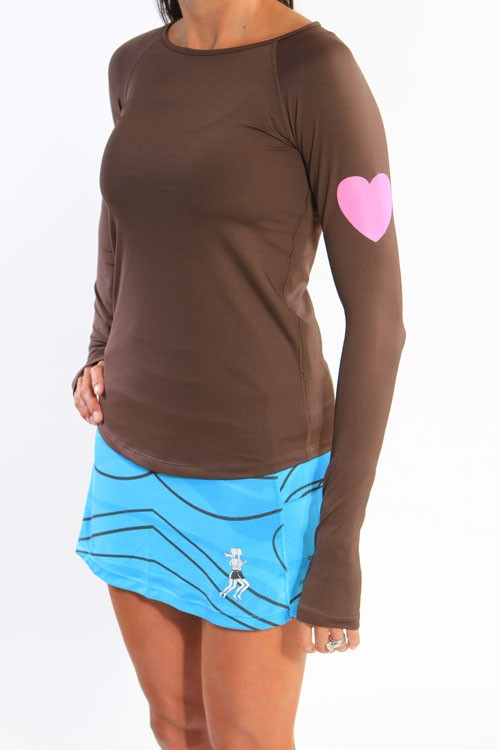 Chocolate Run Love Long Sleeve Top