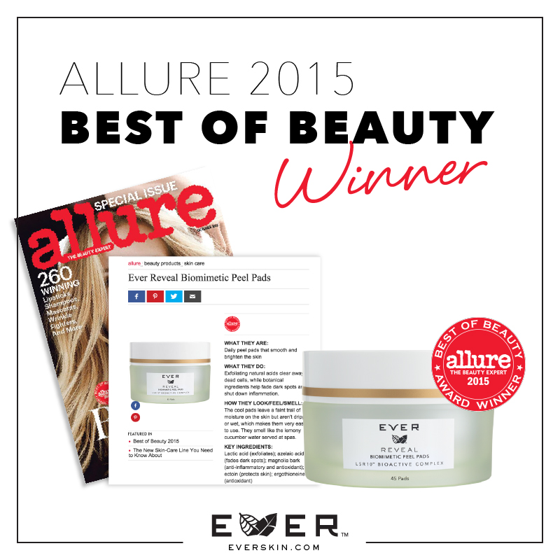 EVER Skin Care Nikol Johnson, EVER Skin Care, EVER Skin Care Review, EVER Skin Care Florida, ALLURE Beauty Award 2015, EVER, Best Skin EVER