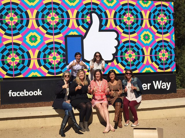 Hanging out at Facebook in California.